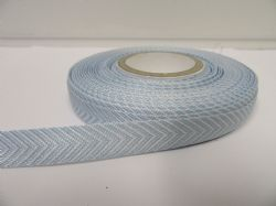 2 metres or 20 metre Roll 10mm Light Baby Blue Woven Chevron Arrow Ribbon Double sided